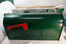MAILBOX MAIL BOX LARGE ELITE GIBRALTAR HEAVY STEEL FOREST GREEN USA 20in LONG