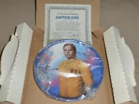 "Star Trek TOS Hamilton Collection 8.5"" dia. Plate Captain Kirk 03160 1983 COA"