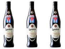 3 Bottiglie Rum LEGENDARIO ELIXIR DE CUBA CL. 70 Ron 7yo Leggendario Rhum 7 Anni