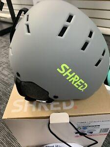 Shred Notion Noshock Helmet, Medium, Grey/Yellow, New