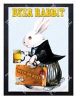 Historic Beer of Bust, Beer Rabbit 1900s Beer Ad Postcard
