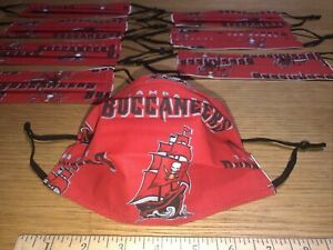 Tampa Bay BUCCANEERS Mask 2 layers of cotton adjustable w/nose wire 3 sizes
