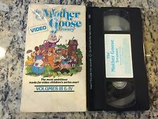 THE MOTHER GOOSE VIDEO TREASURY VOLUME 3 & 4 RARE VHS! 1987 FAIRY TALES PUPPETS!