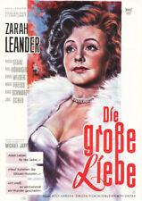 Die große Liebe ORIGINAL A1 Kinoplakat Zarah Leander / Victor Staal