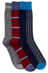 Casual Nights Men's 3 Pack Dress Crew Socks