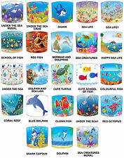 Children`s Under The Sea Lampshades, Ideal To Match Under The Sea Duvet Covers.