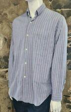 """Vintage Men's Paul Smith Casual Shirt Purple/Blue Vertical Stripe Size 15.5"""" 146"""