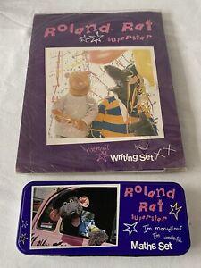 Rare 1980s Roland Rat Writing Set - Sealed & Maths Set In Pencil Case - Unused