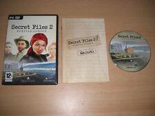 Secret Files 2 para PC DVD ROM PURITAS CORDIS-Envío rápido