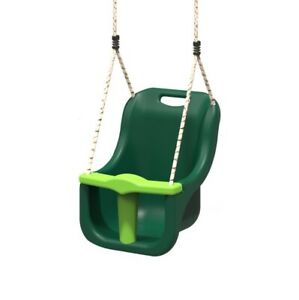 Rebo Baby Swing Seat Safety Back Supporting Swing Adjustable Ropes - Green