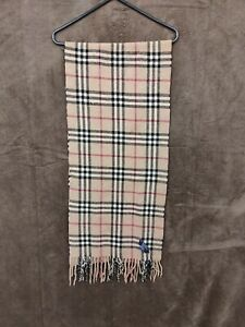 VINTAGE Burberry Scarf 100% Cashmere WELL USED SCARVE UNISEX