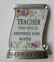 K Teacher one who is extremely note LIFE IS MUSIC miniature message figurine
