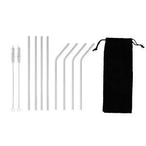 Stainless Steel Straws Reusable 8 Set, with 2 Cleaning Brush for any drink!!
