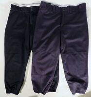 "2 Pair MIZUNO  WILSON Womens Large (30&32"" x 23"") Softball Baseball Capri Pants"