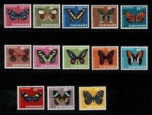 Suriname complete set Butterflies 1972 MNH