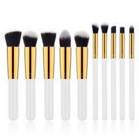 10Pcs Cosmetic Makeup Brush Set Eyebrow Eyeliners Face Kabuki Brush Beuaty Brush