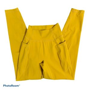 Paragon Fitwear Fitness Leggings Size S Mid Rise Mustard Yellow