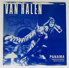 "VAN HALEN Signed Autograph ""Panama"" Album Vinyl LP by 4 David Lee Roth, Eddie +"