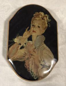 Vintage John Mackintosh & Sons Sweet Tin Biscuit Elegant Lady