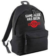 game mode deactivated, backpack geek gamer computer PC fantasy funny nerd 6533