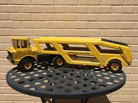 Vintage Mighty Tonka Car Carrier Yellow 1960's Metal Toys
