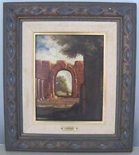"""Oil Painting on Canvas Angela Carugati 1881-1977 Italian Painter """"Roman Ruins"""""""