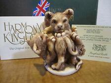 Harmony Kingdom Rough and Tumble Cats Uk Made Marble Resin Box Figurine