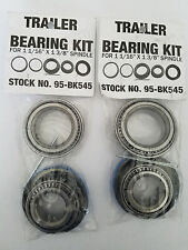 "2 Boat Trailer Wheel Bearing Kits for 1 1/16"" x 1 3/8"" Spindle"