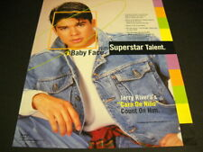 JERRY RIVERA Superstar Talent with a Baby Face original 1993 PROMO POSTER AD