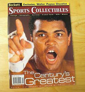 """Beckett Sports Collectibles Magazine - """"Muhammad Ali"""" - December 1999 - VINTAGE"""