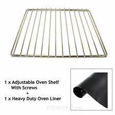 COOKE & LEWIS Adjustable Oven Shelf Stainless Steel Grill & Heavy Duty Liner