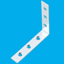 10 x Steel L Shaped Right Angle Repair Corner Bracket Brace 75x75x20 1.5mm Thick