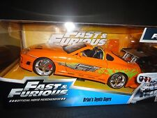 Jada Toyota Supra 1995 orange de Brian voiture FAST AND FURIOUS 1/24 97168