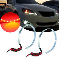 2pcs Brilliant Red Demon Eye Halo Ring LED Strip Lights For Headlights DRL Refit