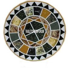 20'' Marble Coffee Table Top Mosaic Inlaid Multi Stone Work Bedroom Arts Decor