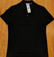Mens Authentic Lacoste Tonal Croc Pique Polo Shirt Black 3 Small $98