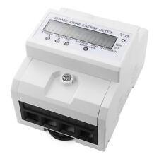8-digit LCD DIN-rail Kilowatt Hour Energy Meter 3 Phase 4 Wire AC 230V TE555