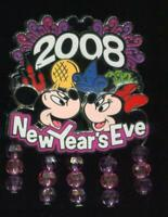 WDW New Year's Eve 2008 Mickey and Minnie LE Disney Pin 67434