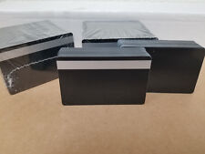 Black Ultra PVC Cards w/ Silver HiCo MagStripe 2 Track - CR80 .30 Mil - 100 Seal