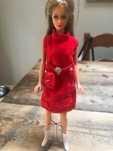 Vintage Barbie doll 1966 Mattel Bendable Legs light brown Hair Blue Eyes Japan