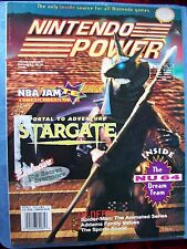 NINTENDO POWER MAGAZINE #71 STARGATE, WEAPONLORD POSTER VERY GOOD