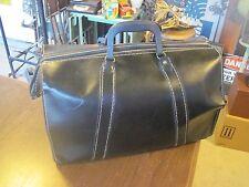Vintage Black Leather Doctor Bag Satchel Great Condition!