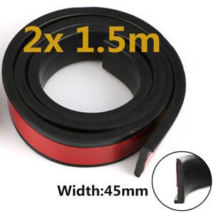 Universal Car Wheel Trim 2x 1.5m Rubber Fender Moulding Flares Cover Strip 45mm