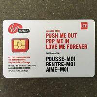 Virgin Mobile Micro SIM Card Canada (Brand New) 🇨🇦