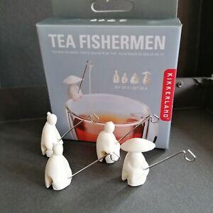 Kikkerland Tea Fishermen 4 Teebeutelhalter  Jiang Taigong Chinesische Angler