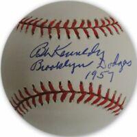 Bob Kennedy Hand Signed Autographed MLB Baseball Brooklyn LA Dodgers W/ COA