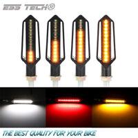 Clignotant moto LED dynamique Sequentiel Orange Drl feux de jour blanc Ess Tech