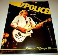 The Police Squeeze UB40 - Rockatta D'Europa 26/07/80 Concert Souvenir Programme