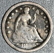 1853 H10c LIBERTY SEATED HALF DIME -WITH ARROWS & STARS-, GRADE VG+,  SKU-RA11
