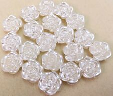Beautiful Wedding Roses Buttons  -  Ivory Pearl - 20 x ~20mm